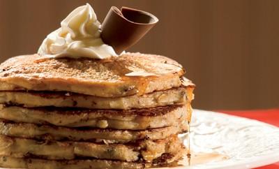 Chocolate Whole Grain Pancakes