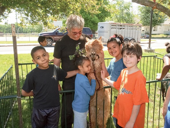 Elkhart County Farm Bureau elementary school Ag Day