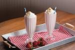 Strawberry Cheesecake Milkshakes