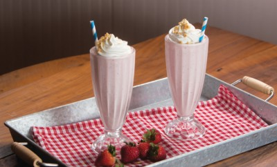 Strawberry Cheesecake Milkshakes