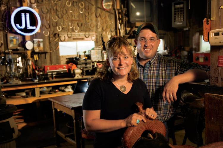 Lyn and Jay Ocken of Ocken Bit and Spur, South Whitley, Indiana