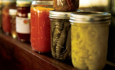 Canned tomatoes, canned peppers