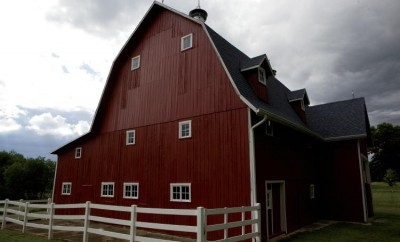 Renovated historic red barn in Cass County IN