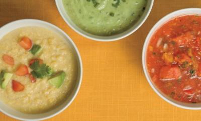 Cold Soup Recipes - Creamy Cucumber Avocado Soup, Southwestern Corn Chowder, Watermelon Gazpacho