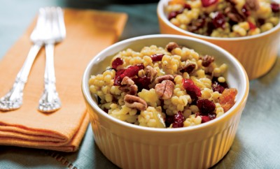 Barley Recipes; Cranberry Recipes; Raisin Recipes; Pecan Recipes; Curried Barley; Cranberries; Raisins, Pecans