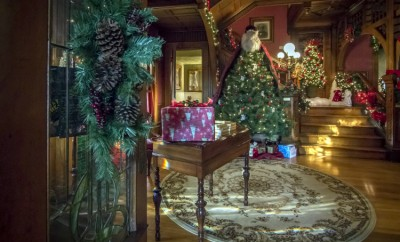 Christmas at the Sieberling Mansion