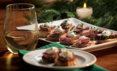 Steak and Potatoes Crostini