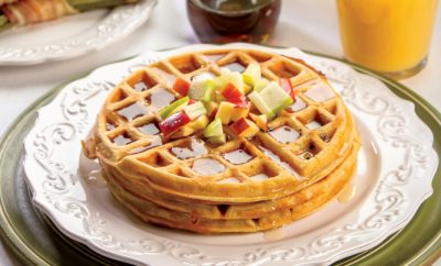 Apple Bacon Waffles