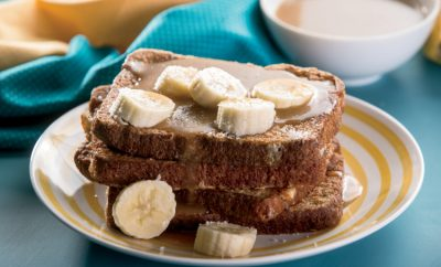 Salted Caramel Banana French Toast