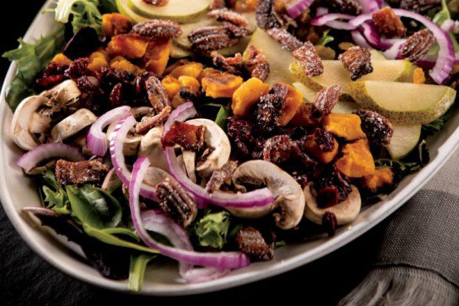 Layered Autumn Harvest Salad