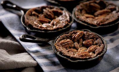 Pecan Pie Skillet Brownies