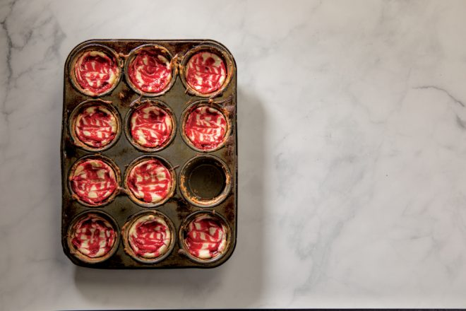 Raspberry Cheesecake Muffin Tin Brownies